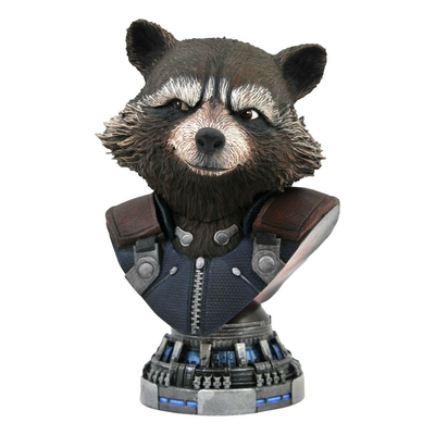 Buste Avengers Endgame Legends in 3D Rocket Raccoon 20cm