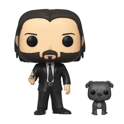 Figurine John Wick Funko POP! John Wick in Black Suit with Dog 9cm