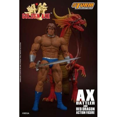 Figurine Golden Axe - Ax Battler & Red Dragon 18cm