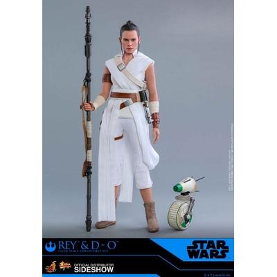 Pack 2 figurines Star Wars Episode IX Movie Masterpiece Rey & D-O 28cm
