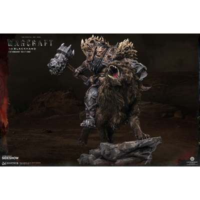 Statuette Warcraft The Beginning Blackhand Riding Wolf Standard Version 40cm