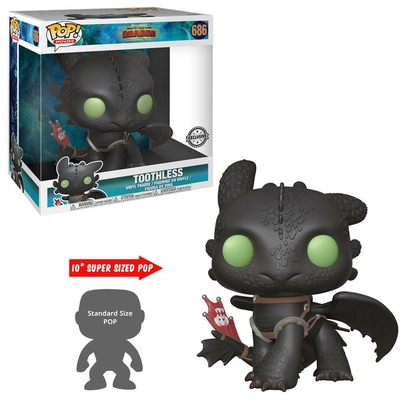 Figurine Dragons 3 : Le Monde caché Super Sized Funko POP! Toothless 25cm
