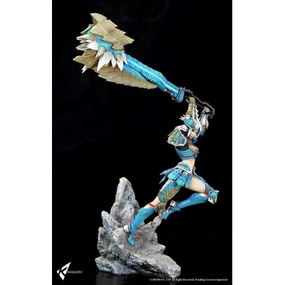 Diorama Monster Hunter Zinogre Female Hunter