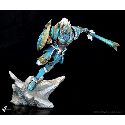 Diorama Monster Hunter Zinogre Male Hunter
