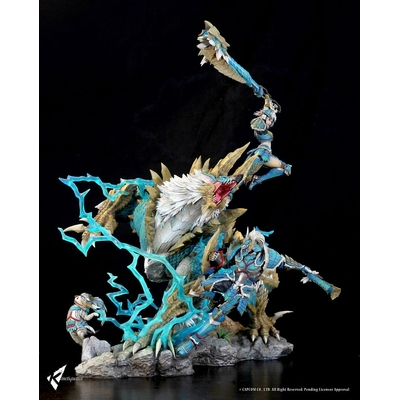 Diorama Monster Hunter Zinogre The Electrifying Bundle 56cm