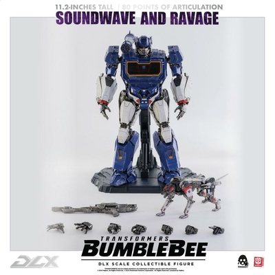 Pack 2 figurines Transformers Bumblebee DLX Soundwave & Ravage 28cm