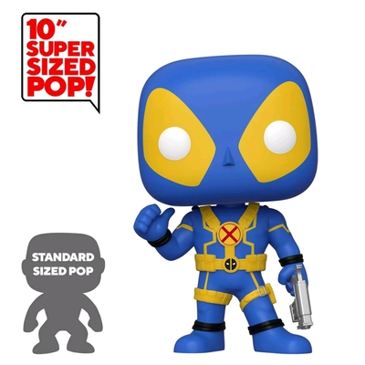 Figurine Deadpool Super Sized Funko POP! Thumb Up Blue Deadpool 25cm