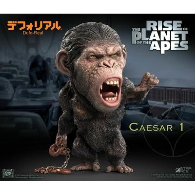Statuette La Planète des singes Les Origines Deform Real Series Soft Vinyl Caesar Chain Ver. 15cm