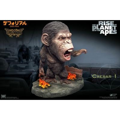 Statuette La Planète des singes Les Origines Deform Real Series Soft Vinyl Caesar Chain Ver. Deluxe 15cm