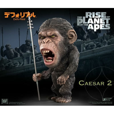 Statuette La Planète des singes Les Origines Deform Real Series Soft Vinyl Caesar Spear Ver. 15cm
