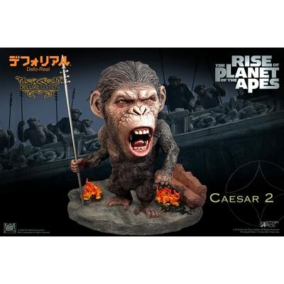 Statuette La Planète des singes Les Origines Deform Real Series Soft Vinyl Caesar Spear Ver. Deluxe 15cm