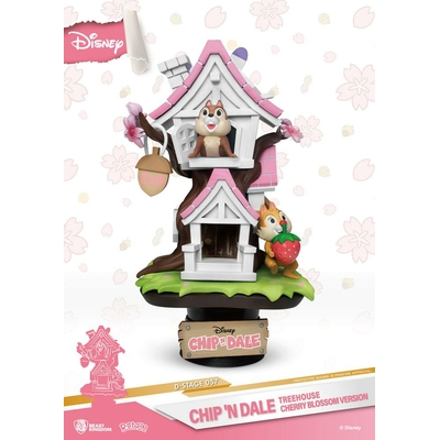 Diorama Disney D-Stage Chip 'n Dale Tree House Cherry Blossom Ver. 16cm