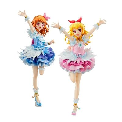 Pack 2 statuettes Aikatsu! Lucrea Akari & Ichigo Cosmoc Ver. 22cm