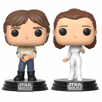 Figurine Star Wars Funko POP! Han & Leia Empire Strikes Back 40th Anniversary 9cm