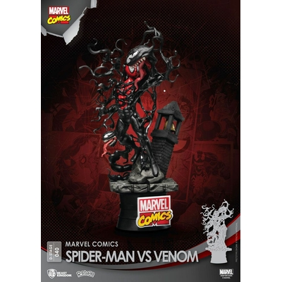 Diorama Marvel Comics D-Stage Spider-Man vs. Venom 15cm