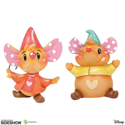Set statuettes The World of Miss Mindy Presents Disney Jaq & Gus 9cm