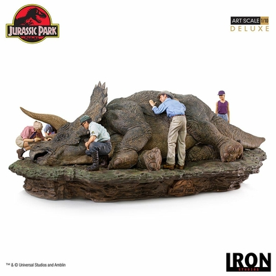 Diorama Jurassic Park Deluxe Art Scale Triceratops 74cm