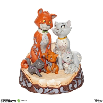 Statuette Disney Aristocats Carved by Heart 18cm