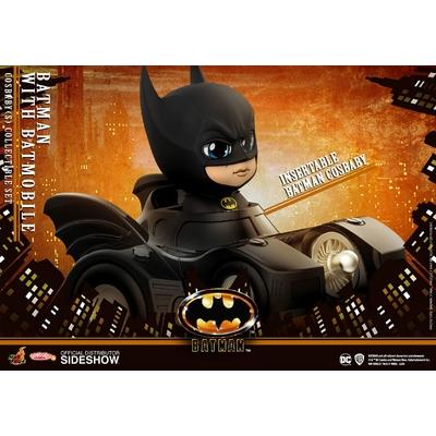 Figurine Batman 1989 Cosbaby Batman with Batmobile 12cm