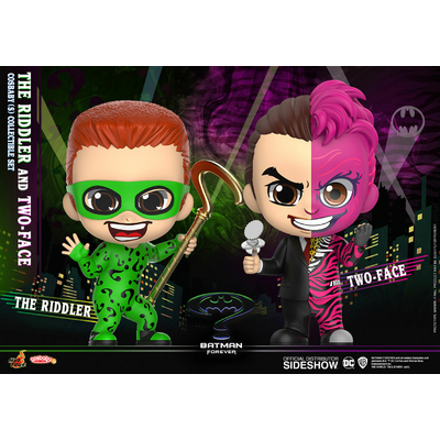 Pack 2 figurines Batman Forever Cosbaby The Riddler & Two-Face 11cm