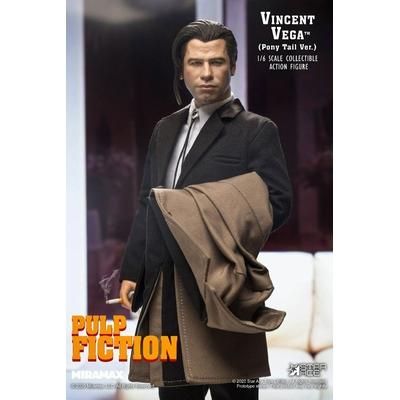 Figurine Pulp Fiction My Favourite Movie Vincent Vega 2.0 Pony Tail 30cm