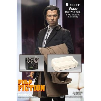 Figurine Pulp Fiction My Favourite Movie Vincent Vega 2.0 Pony Tail Deluxe Version 30cm