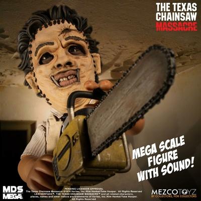 Figurine sonore Massacre à la tronçonneuse Mega Scale Leatherface 38cm