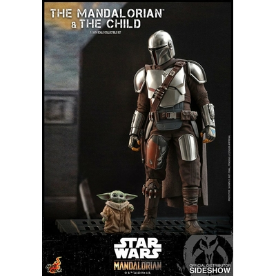 Pack 2 figurines Star Wars The Mandalorian - The Mandalorian & The Child 30cm