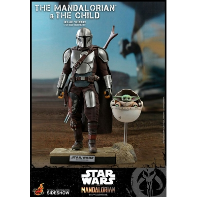 Pack 2 figurines Star Wars The Mandalorian - The Mandalorian & The Child Deluxe 30cm