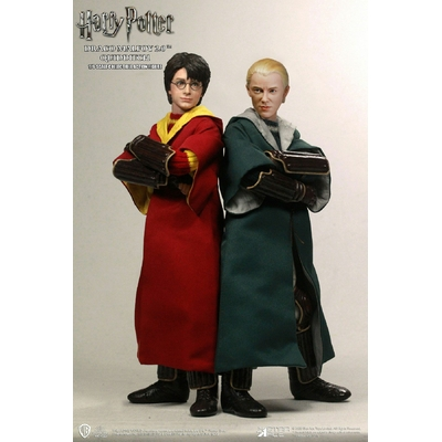 Pack 2 figurines Harry Potter - Harry Potter & Draco Malfoy 2.0 Quidditch Ver. 26cm