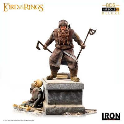 Statuette Le Seigneur des Anneaux Deluxe BDS Art Scale Gimli 21cm