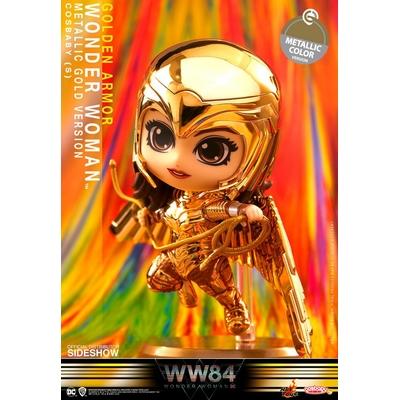 Figurine Wonder Woman 1984 Cosbaby Golden Armor Wonder Woman Metallic Gold Version 10cm