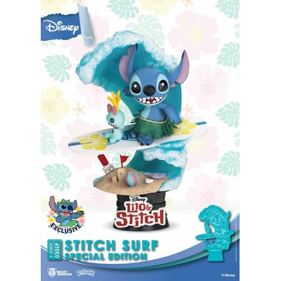 Diorama Disney Summer Series D-Stage Stitch Surf Special Edition 15cm