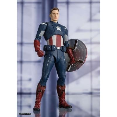 Figurine Avengers Endgame S.H. Figuarts Captain America Cap VS. Cap Edition 15cm