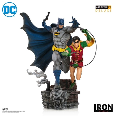 Statuette DC Comics Deluxe Art Scale Batman & Robin by Ivan Reis 25cm