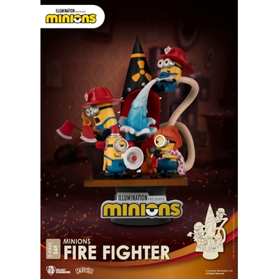 Diorama Minions D-Stage Fire Fighter 15cm