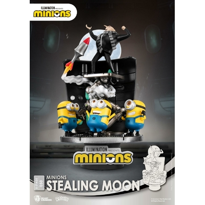 Diorama Minions D-Stage Stealing Moon 15cm