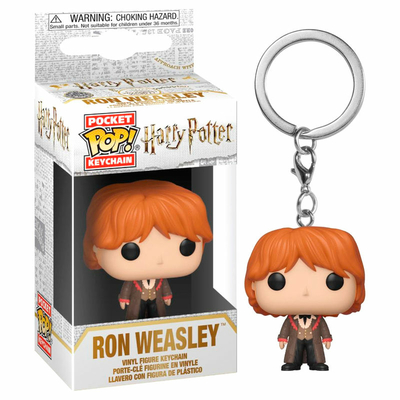 Porte-clés Harry Potter Pocket POP! Ron Yule 4cm