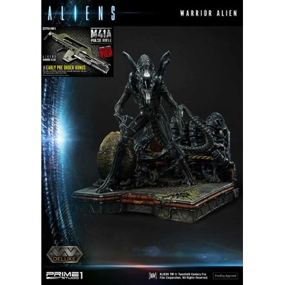 Statue Aliens Premium Masterline Series Warrior Alien Deluxe Bonus Version 67cm