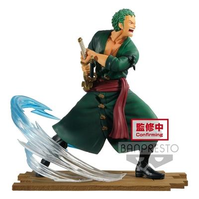 Statuette One Piece Log File Selection Fight Roronoa Zoro 14cm