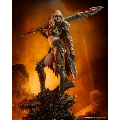 Statuette Sideshow Originals Dragon Slayer Warrior Forged in Flame 47cm