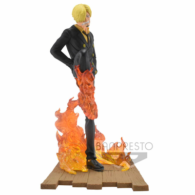 Statuette One Piece Log File Selection Fight Sanji 15cm