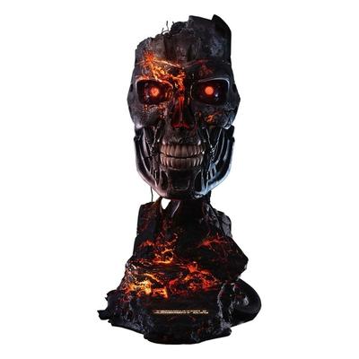Réplique Terminator 2 Le Jugement dernier masque de T-800 Endoskeleton Battle Damaged Version 46cm