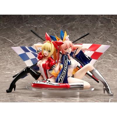 Statuette Fate Extra Nero Claudius & Tamamo No Mae Type-Moon Racing Ver. 17cm