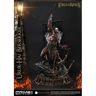 Statue Le Seigneur des Anneaux Uruk-Hai Berserker 93cm
