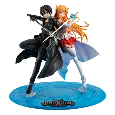 Statuette Sword Art Online Lucrea Kirito & Asuna 10th Anniversary 22cm