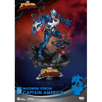 Diorama Marvel Comics D-Stage Maximum Venom Captain America 16cm
