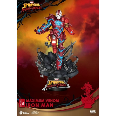 Diorama Marvel Comics D-Stage Maximum Venom Iron Man 16cm