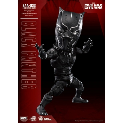 Figurine Captain America Civil War Egg Attack Black Panther 15cm