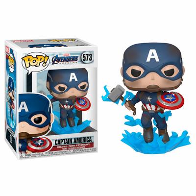 Figurine Avengers Endgame Funko POP! Captain America w/Broken Shield & Mjölnir 9cm